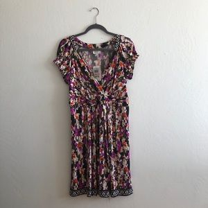 ECI Women's Short-sleeve Printed Midi Dress